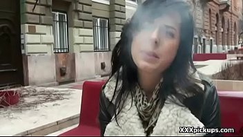 on fucked road the of brunette public amateur side finger in Mmf bi sex cumming while fucked