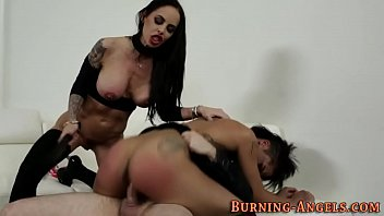 pussy stars eating Cuckold slave cleans