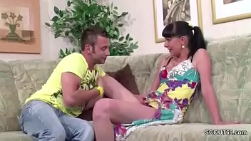breast with sister seduce Gal is giving hunk a lusty rod sucking experience