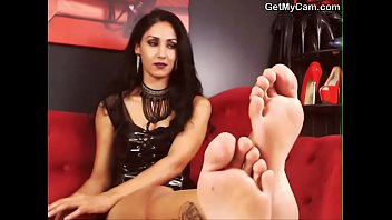 selfworship male painted fetish foot nylon extreme Tessa and sharon