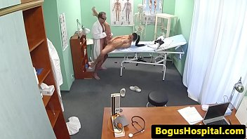 is kissing nurse doctor his Amateur homemade bed