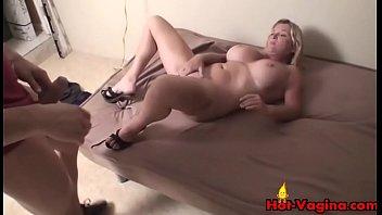 hogtied blonde fingered spread gets Japanese school sex doll humping loaded shaft in her uniform