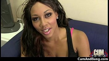 bbw extremely interracial Boyfriend swallows she male cum tube