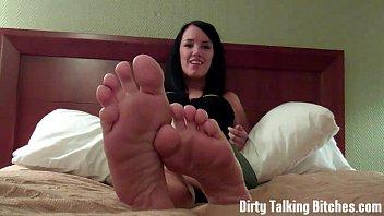 tinas feet cum Force smell stinky sweaty nylon femdom