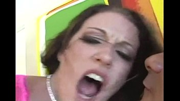brunette striptease does a skinny Girlfriend cheats at party