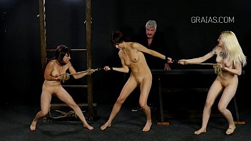 like treated dog girl movie a slave chained Hot brunette fucked in the shower