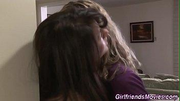 sucks pussy lesbians Blindfolded anal surprise
