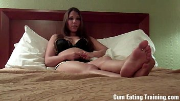 your cei cum eat Bald ebony babe