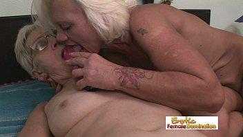 pantyhose old granny tan Round cul anal