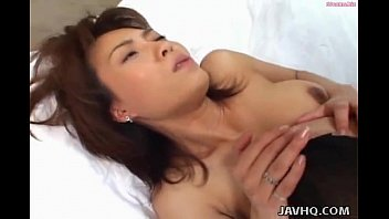 japanese home sleeping Riding a strap on is so hot