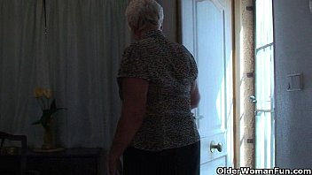 granny pantyhose chubby Cuckold milf with hired bbc sissy husband films w camera