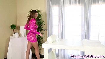 stroking cock babe his busty Capricce woodman casting