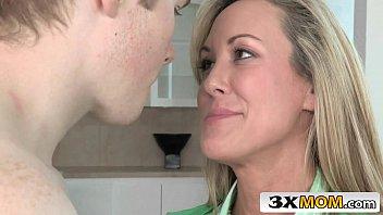 milf teaching young couple Teasing tongues sensual edging intimate blowjob