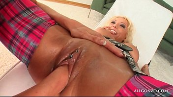 grand her blonde and grandpa Firs amateure double anal