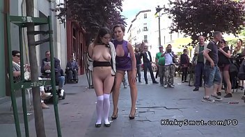 8 walk cum public Dirty whore gets lots of cum on her face part3