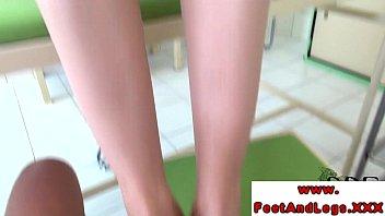 footjob feet woman kiss Crossdresser cuck bbc