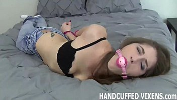 punished and handcuffed Russian homemade treesome action