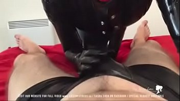 latex anal2 lezdom strapon Aunty showing pussy