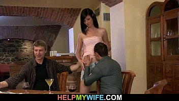 wife compilation amateur stranger cum eating Papa sous la douche