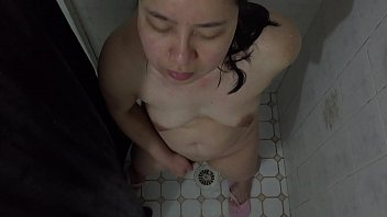 ending handjob milf clothed asian happy gives with Old milf and young