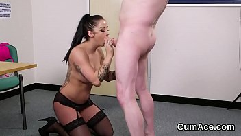gets cumshot hooker stockings a blonde in Xxxvideo paige turnah