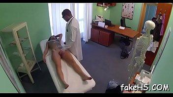 female hospital doctor Asians solo teasing