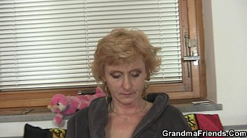 with pussy black granny hair grey Chocolate stepdaughter fucks her white stepdad