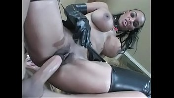 mask latex crossdress 10 inches handjob