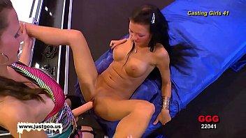 lesbians strap on fuck black Danish milf hard anal