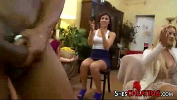 at stripper embarrassed male party girl by stripped Big boob hj j