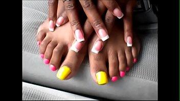 tudung intip pink tandas Slave getting high heel torture from 2 mistresses lesbian