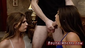 painful anal ptostitute extremely Hung black dude has his way with two skinny white girls